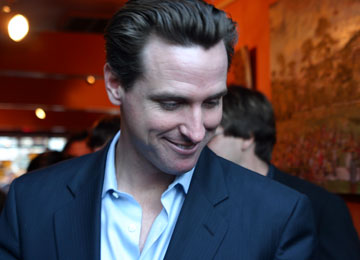 Gavin Newsom, photo by Derek Powazek