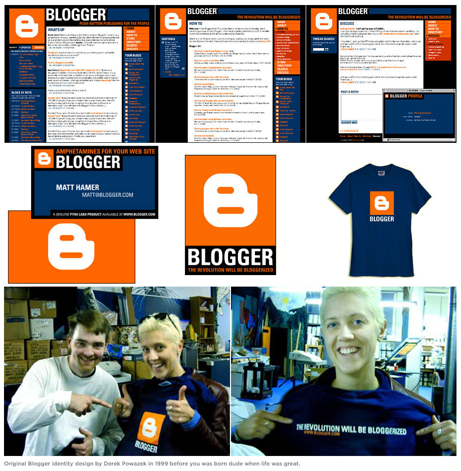 Original Blogger Identity Design by Derek Powazek